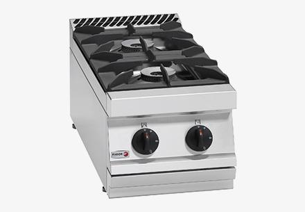 Bếp âu 2 họng không có lò nướng dùng gas