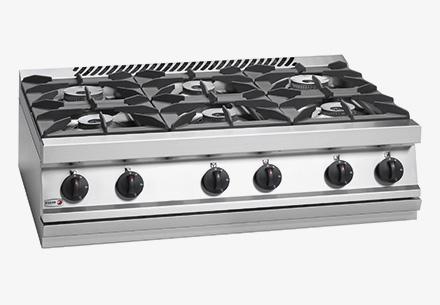 Bếp âu 6 bếp không lò nướng dùng gas