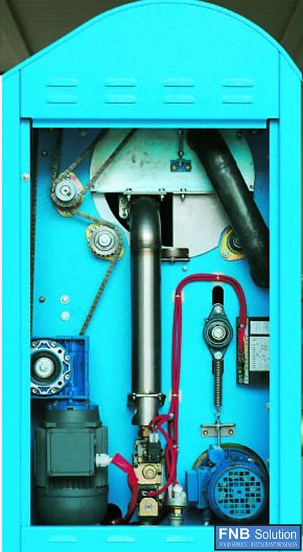 Hệ thống điều khiển của máy là lô có chức năng sấy