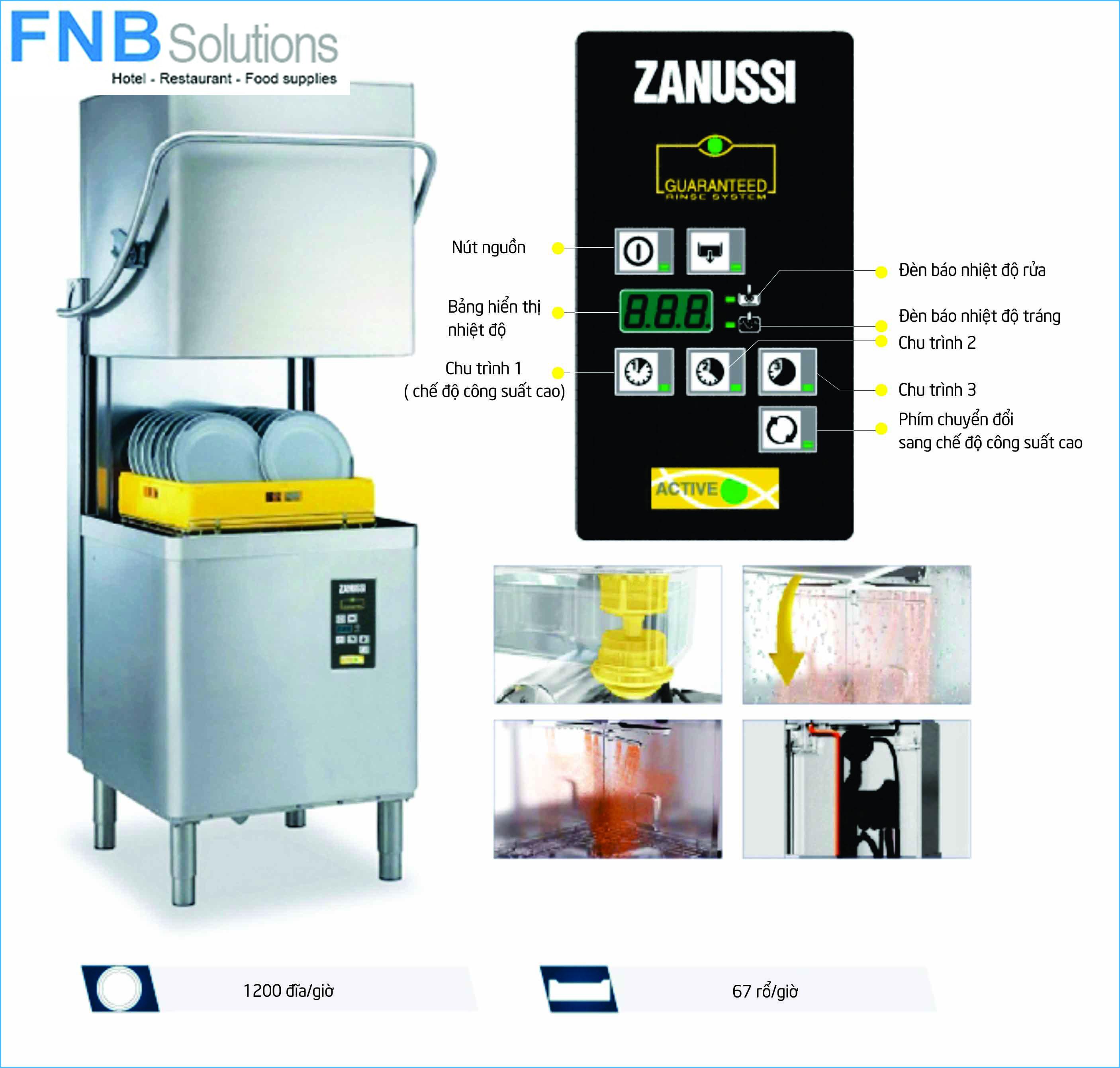 Tư vấn lựa chọn máy rửa bát Zanussi tiết kiệm chi phí cho nhà bếp công nghiệp
