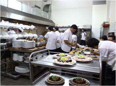 Mẫu thiết kế mô hình bếp ga công nghiệp khu vực nấu nướng cho nhà hàng,khách sạn