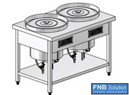 Quầy giữ nóng thức ăn bằng hơi nước 2 nồi